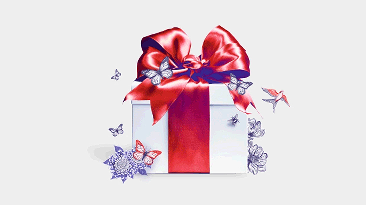 a gift box; image used for HSBC LK Premier shopping offer page