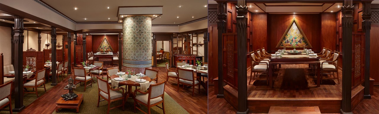 Royal Thai's private dining room; image used for HSBC Sri Lanka premier wine and dine offer page